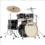 Tama Superstar Classic Maple 20-10-12-14 shell-set CL50RS-TPB Transparent Black Burst kép, fotó