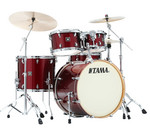 Tama Superstar Classic Maple 22-10-12-16 shell-set CK52KRS-DRP Dark Red Sparkle kép, fotó