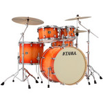 Tama Superstar Classic Maple 22-10-12-16 shell-set CL52KRS-TLB Tangerine Lacquer Burst kép, fotó