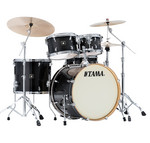 Tama Superstar Classic Maple 22-10-12-16 shell-set CL52KRS-TPB Transparent Black Burst kép, fotó