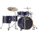 Tama Superstar HD Maple DUO 4 tamos shell-set ML50HZBN2-SBV Satin Blue Vertical Stripe kép, fotó