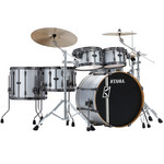 Tama Superstar HD Maple DUO 4 tamos shell-set ML52HZBN2-SSV Stain Silver Vertical Stripe kép, fotó